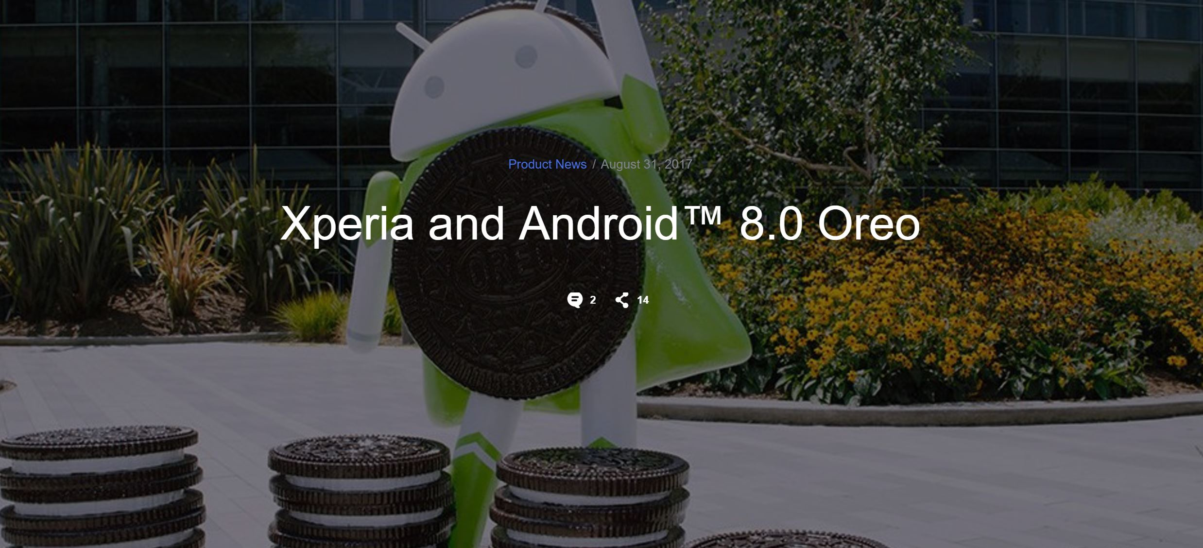 SONY 公布 Android 8.0 Oreo 手機升級名單